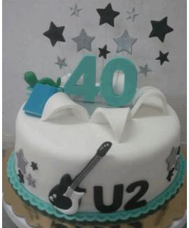 עוגה בצק סוכר ליום הולדת גיל