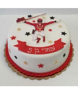 עוגת יום הולדת פאוור רינג'רס
