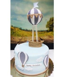 עוגת יום הולדת בלון פורח