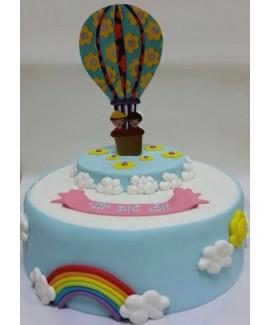 עוגת יום הולדת כדור פורח