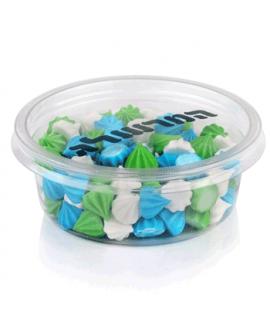נשיקות מרנג צבעוני - לבן ירוק כחול