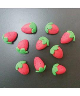 קישוט בצק סוכר - תותים