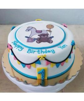 עוגת יום הולדת סוס