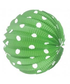כדור נייר ירוק נקודות לבנות