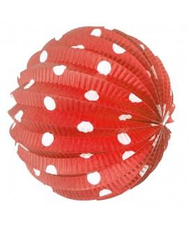כדור נייר אדום נקודות לבנות