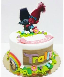 עוגת יום הולדת טרולים
