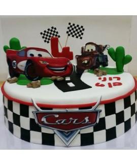 עוגת יום הולדת מירוץ מכוניות