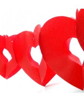 גרלנדה לבבות אדום