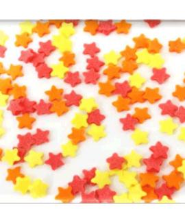 סוכריות לעוגה כוכבים צהוב אדום כתום