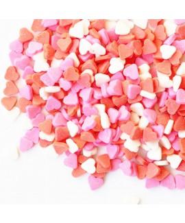 סוכריות לעוגה טבעיות לבבות