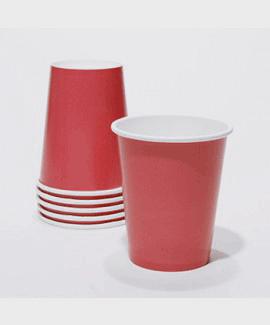 כוסות נייר צבע אדום