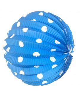 כדור נייר כחול נקודות לבנות