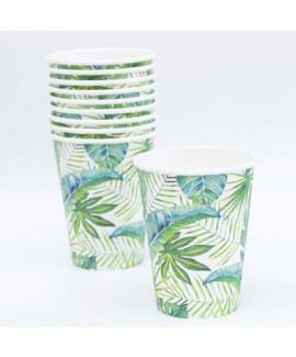 כוסות קרטון גדולות טרופי