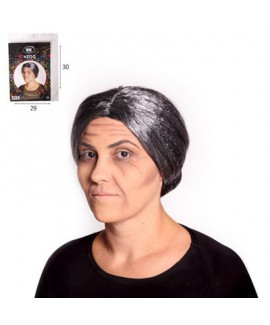 פאה שיער שיבה אפור