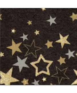 מפיות רקע שחור כוכבים כסף וזהב
