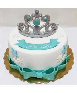 עוגה בצק סוכר ליום הולדת נסיכות