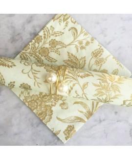 חבק ספירלה זהב עם פנינה