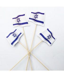 דגל ישראל על קיסם ארוך