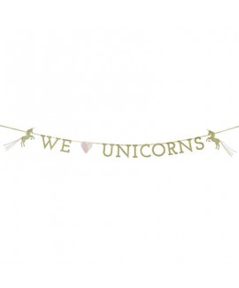 באנר חד קרן WE LOVE UNICORNS
