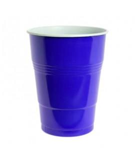 כוסות בירה כחולות מפלסטיק
