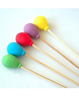 קישוט בצק סוכר - חמישה בלונים צבעוניים