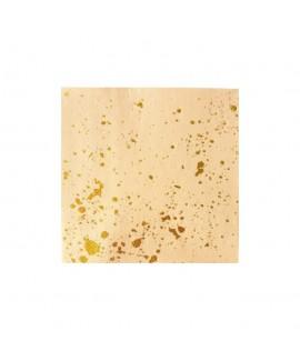 מפיות קוקטייל- צבע פיץ' עם נגיעות זהב