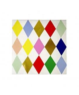 מפיות קוקטייל מעויינים צבעוניים