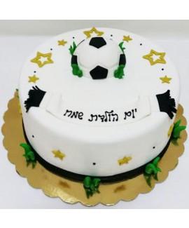 עוגה בצק סוכר כדורגל