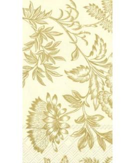מפיות פרחוניות קרם זהב - מלבן