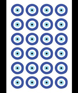 """דף מדבקות מיתוג עין- 4 ס""""מ"""