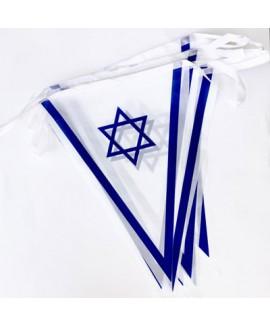 שרשרת דגלי בד ליום העצמאות - 25 מטר