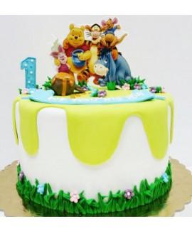 עוגת יום הולדת פו הדב