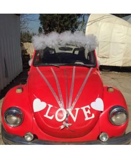 קישוט רכב חתונה אהבה