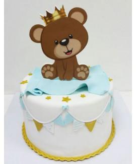 עוגת יום הולדת דובי