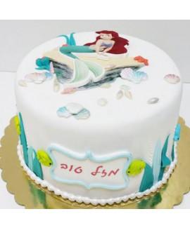 עוגת יום הולדת בת הים הקטנה