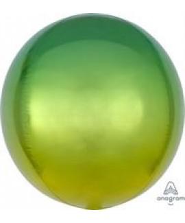 בלון אלומיניום תלת מימד אומברה צהוב ירוק