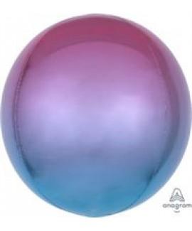 בלון אלומיניום תלת מימד אומברה אדום כחול