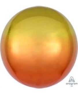 בלון אלומיניום תלת מימד אומברה צהוב כתום