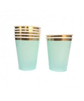 כוסות מנטה פס זהב