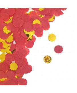 קונפטי נייר -אדום זהב