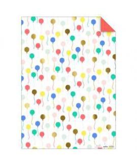 נייר עטיפה בלונים צבעוניים - Meri Meri