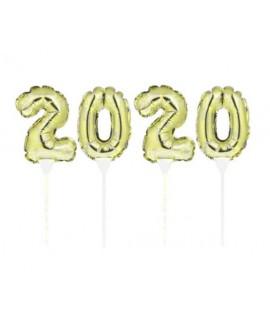 בלונים על מקל 2020 זהב