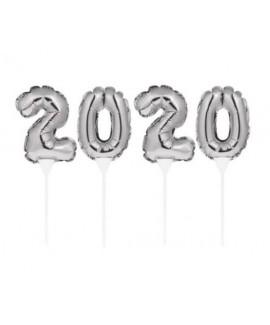 בלונים על מקל 2020 כסף