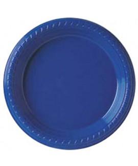 צלחת כחולה גדולה