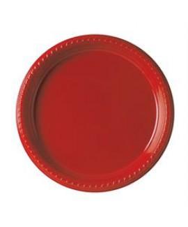 צלחת אדומה גדולה