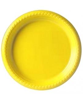 צלחת צהובה גדולה