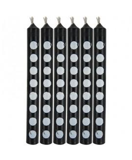 מיני נרות שחורים עם נקודות