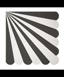 מפיות גדולות שחור לבן - Meri Meri