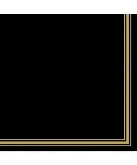 מפיות שחורות פס זהב