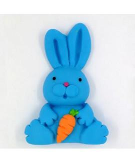 קישוט בצק סוכר - ארנב כחול